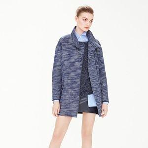 Banana Republic Blue Tweed Coat Size XL
